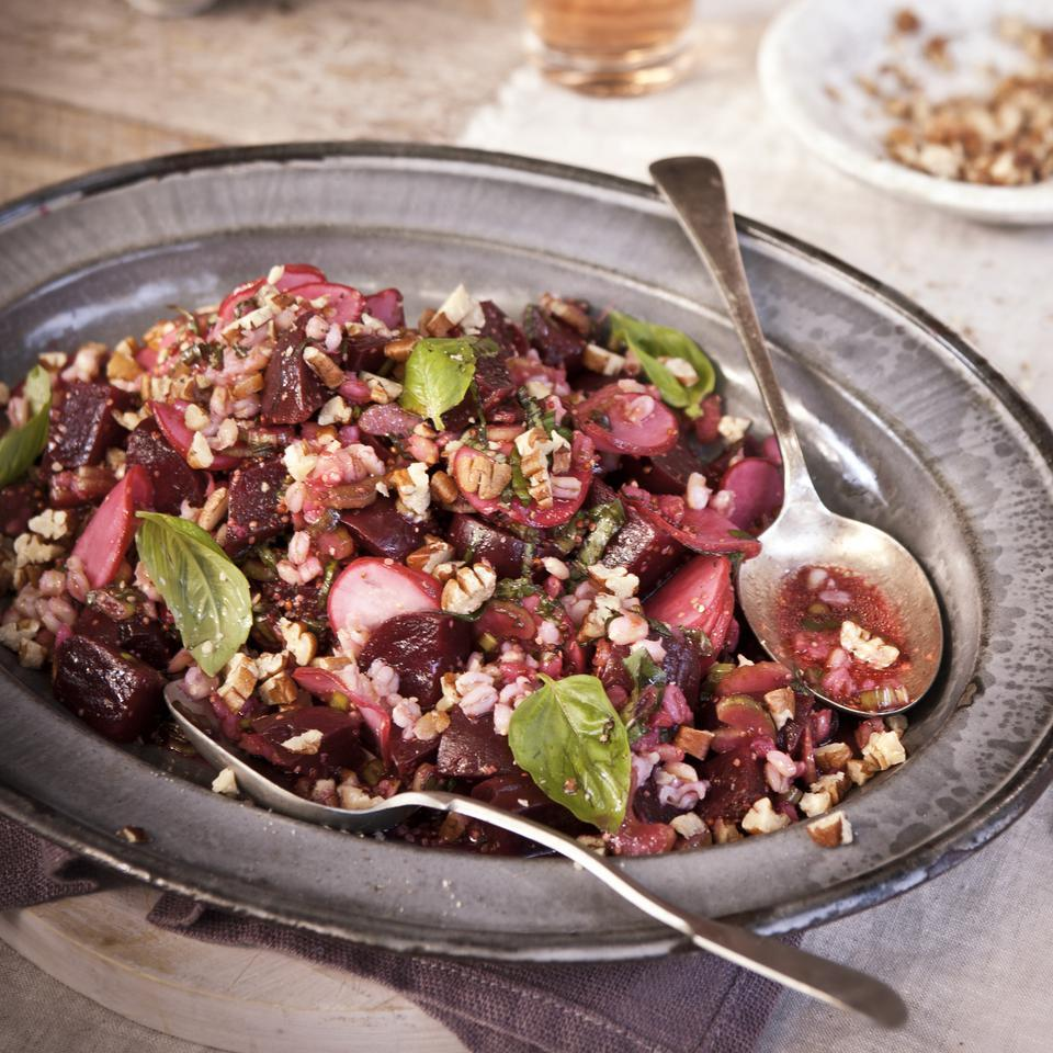 Roasted Beet & Barley Salad