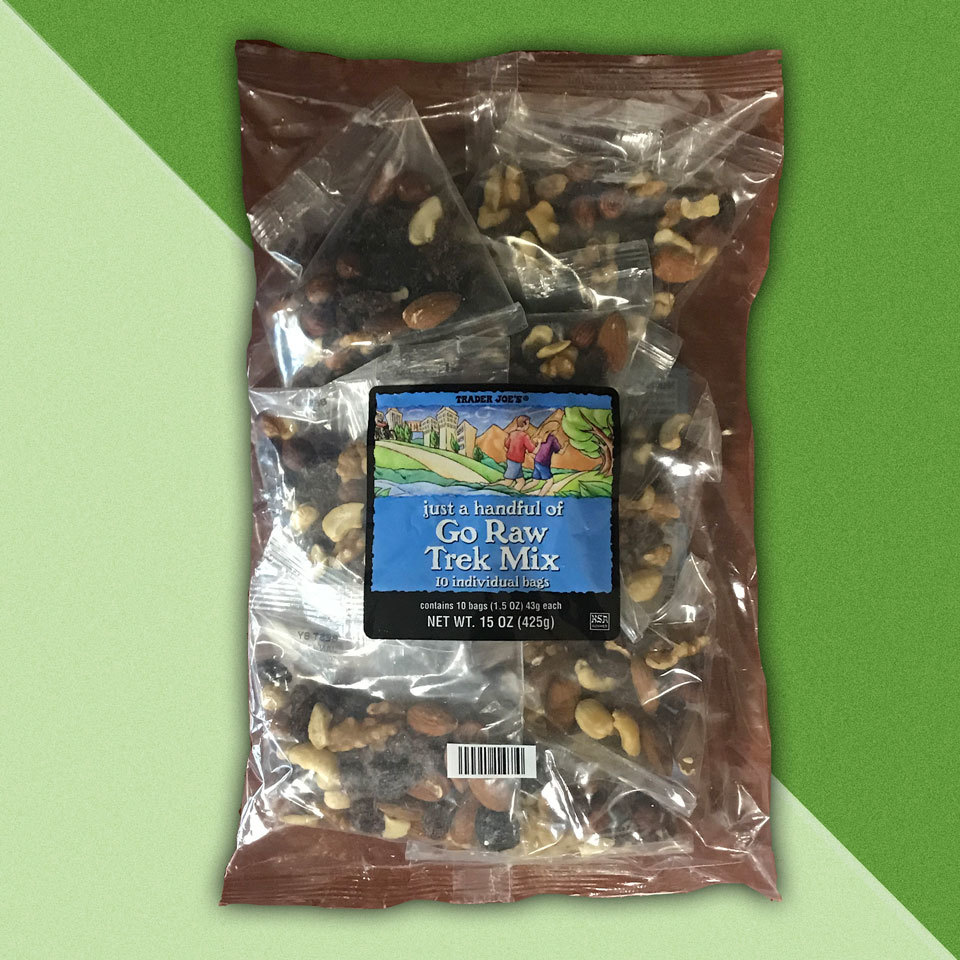 bag of snack sized raw trail mix