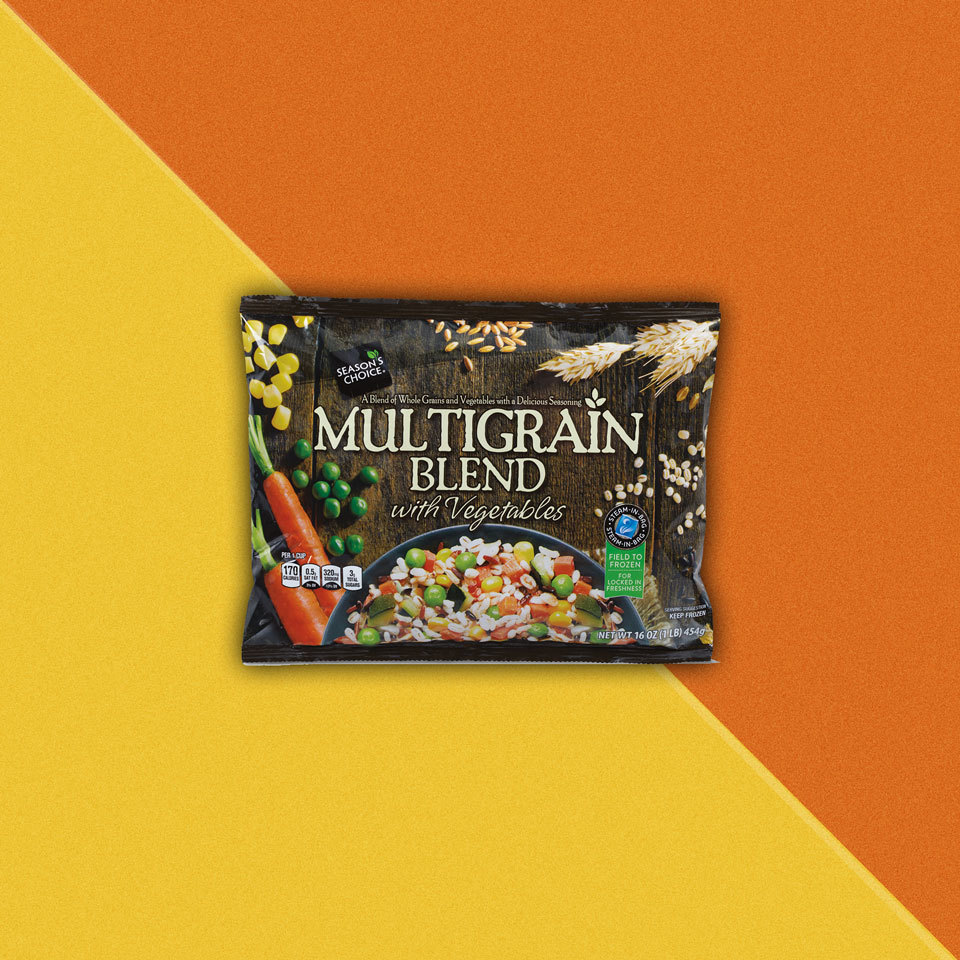 bag of Season's Choice Multigrain Blend with Vegetables