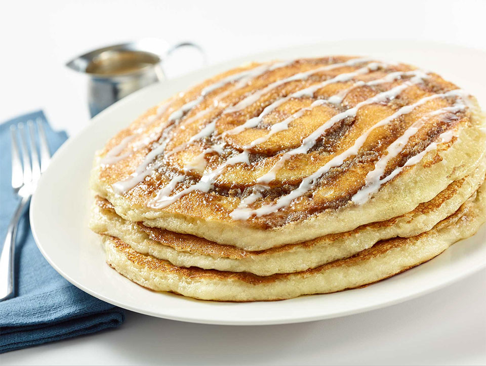 Cinnamon Roll Pancakes from The Cheesecake Factory