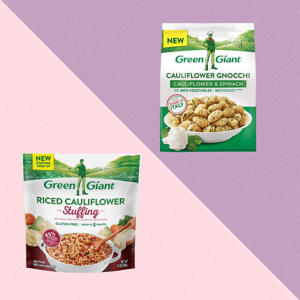 Green Giant Is Launching Cauliflower Gnocchi and Riced Cauliflower Stuffing at Walmart
