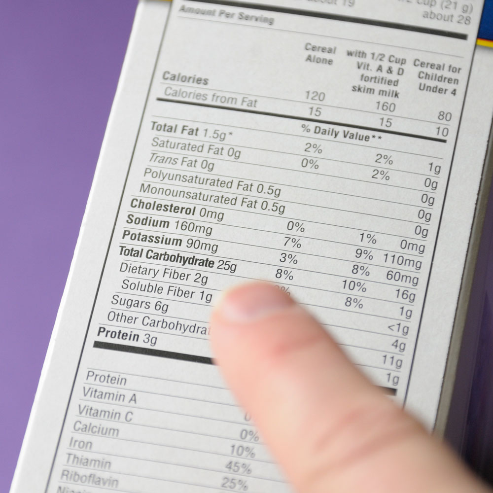 This Is the First Thing Dietitians Look for on a Nutrition Label