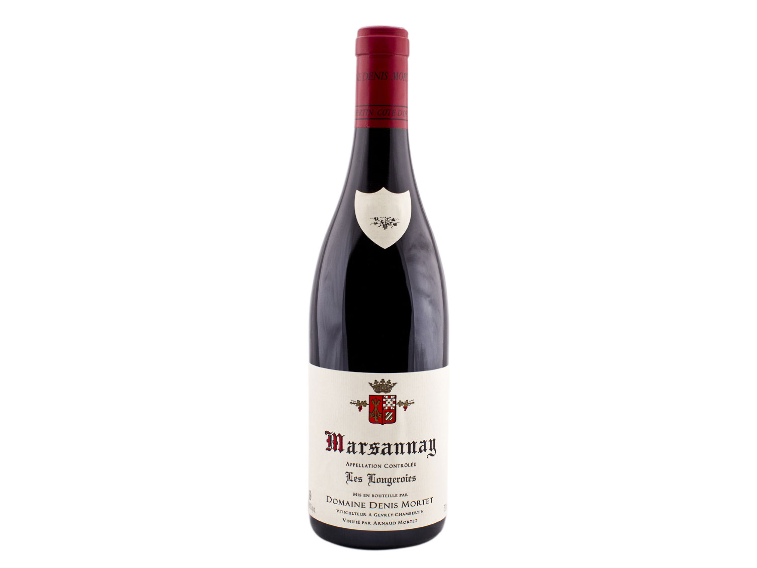 "bottle of 2015 Domaine Denis Mortet Marsannay ""Les Longeroies"""