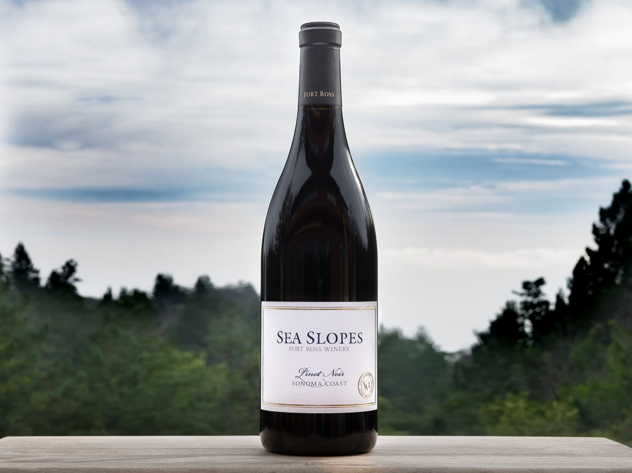 bottle of 2016 Fort Ross Vineyard Sea Slopes Pinot Noir Sonoma Coast, CA