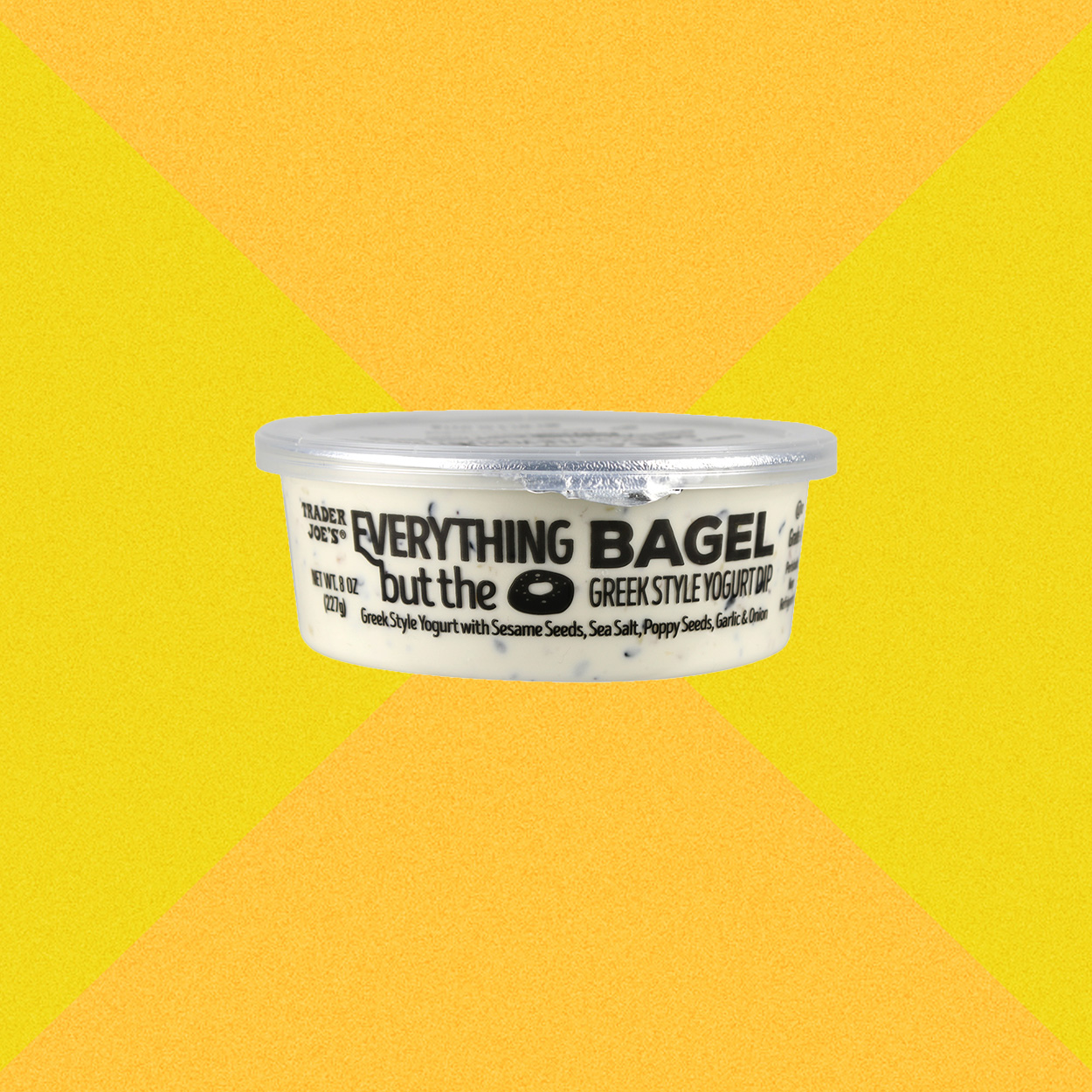 Trader Joe's Everything but the Bagel greek style yogurt dip in container