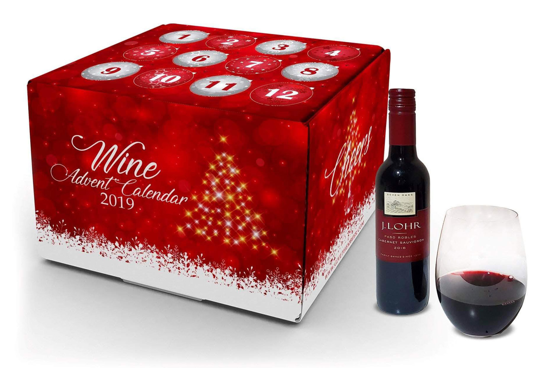 Wine Advent Calendar box with little wine bottles