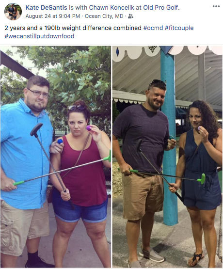 before and after photos on social media