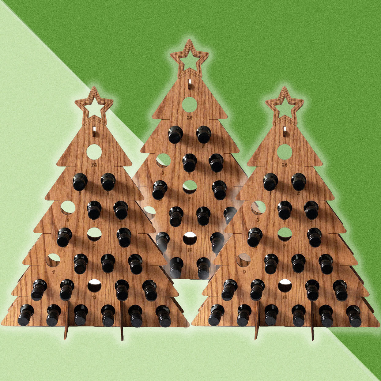 We're Obsessed With This Christmas Tree Advent Calendar That Holds 24 Mini Bottles of Wine or Liquor