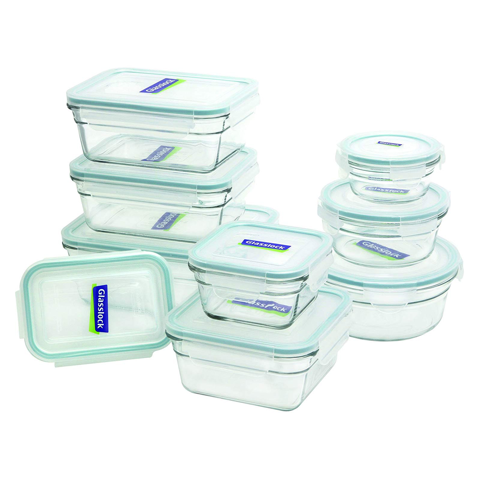Glasslock 18 piece assorted glass containers