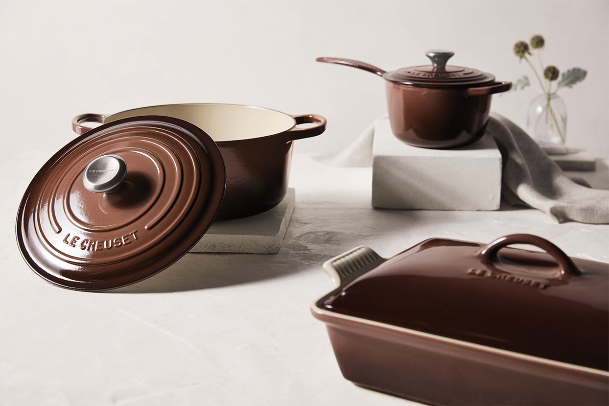 New Truffle (brown) colored Le Creuset