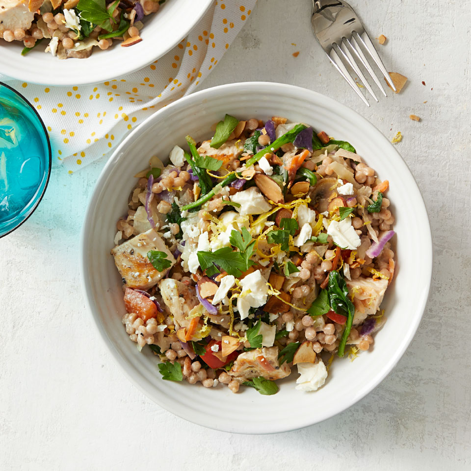 Lemon-Tahini Couscous with Chicken & Vegetables