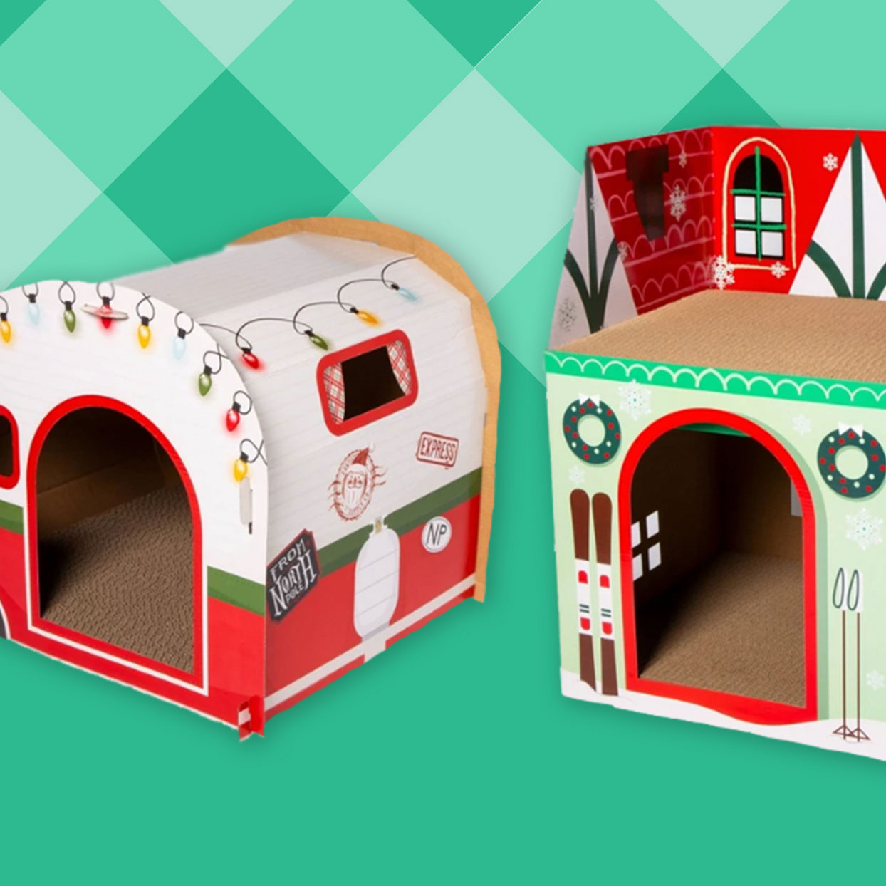 These Christmas Cat Houses Are the Purr-fect Decor for Your Holiday Display