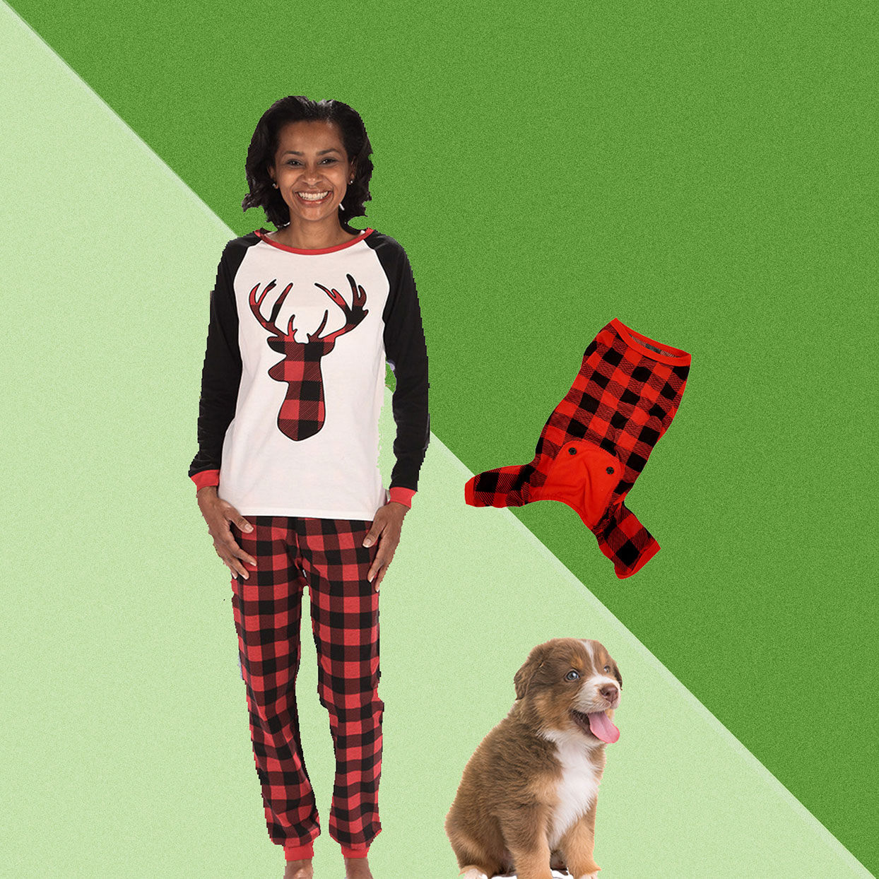 Aldi Is Selling Matching Holiday Pajamas for You and Your Pet—and They're Under $20