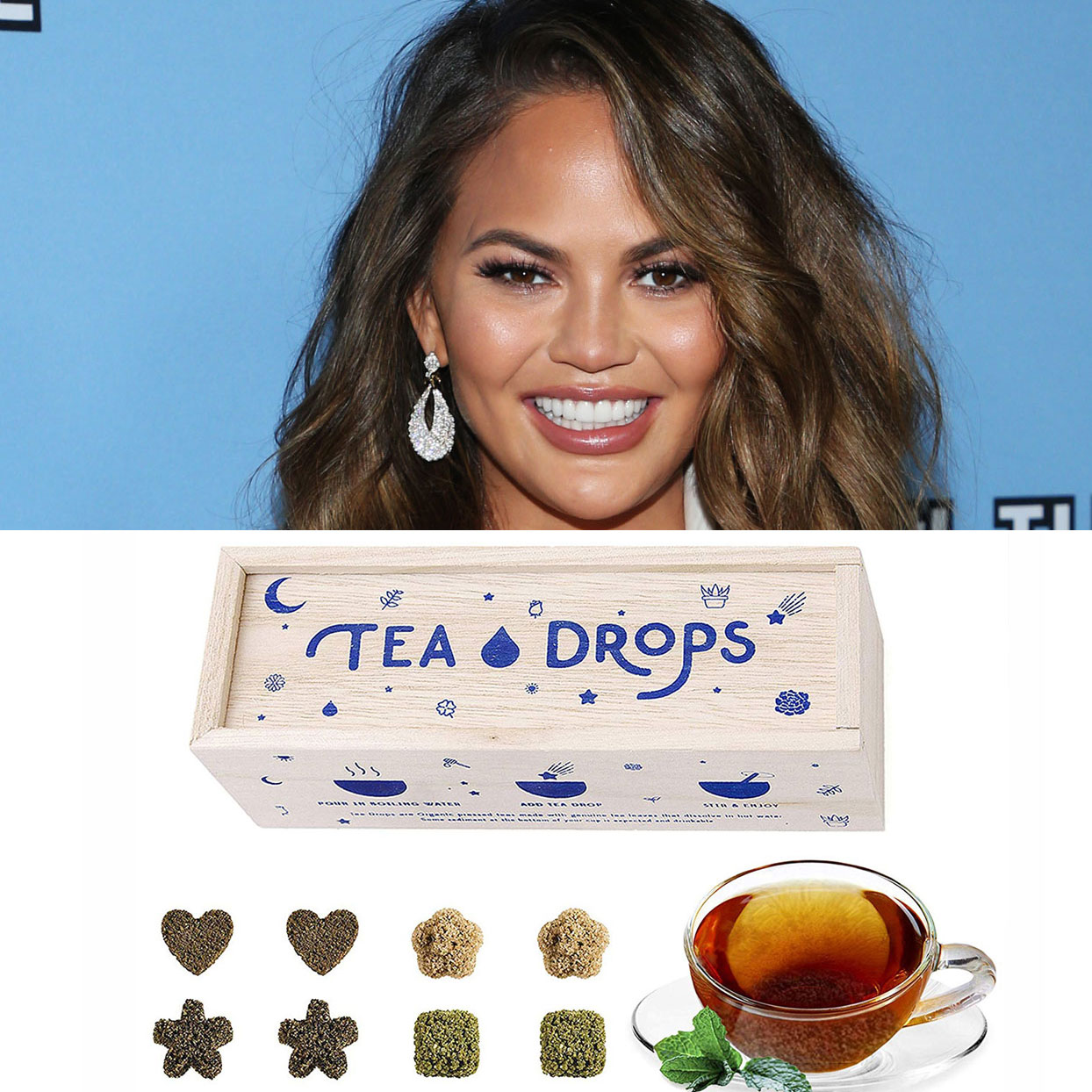 Chrissy Teigen 'Can't Stop Telling Everyone' About These Cute, Dissolvable Tea Drops That Are Best-Sellers on Amazon