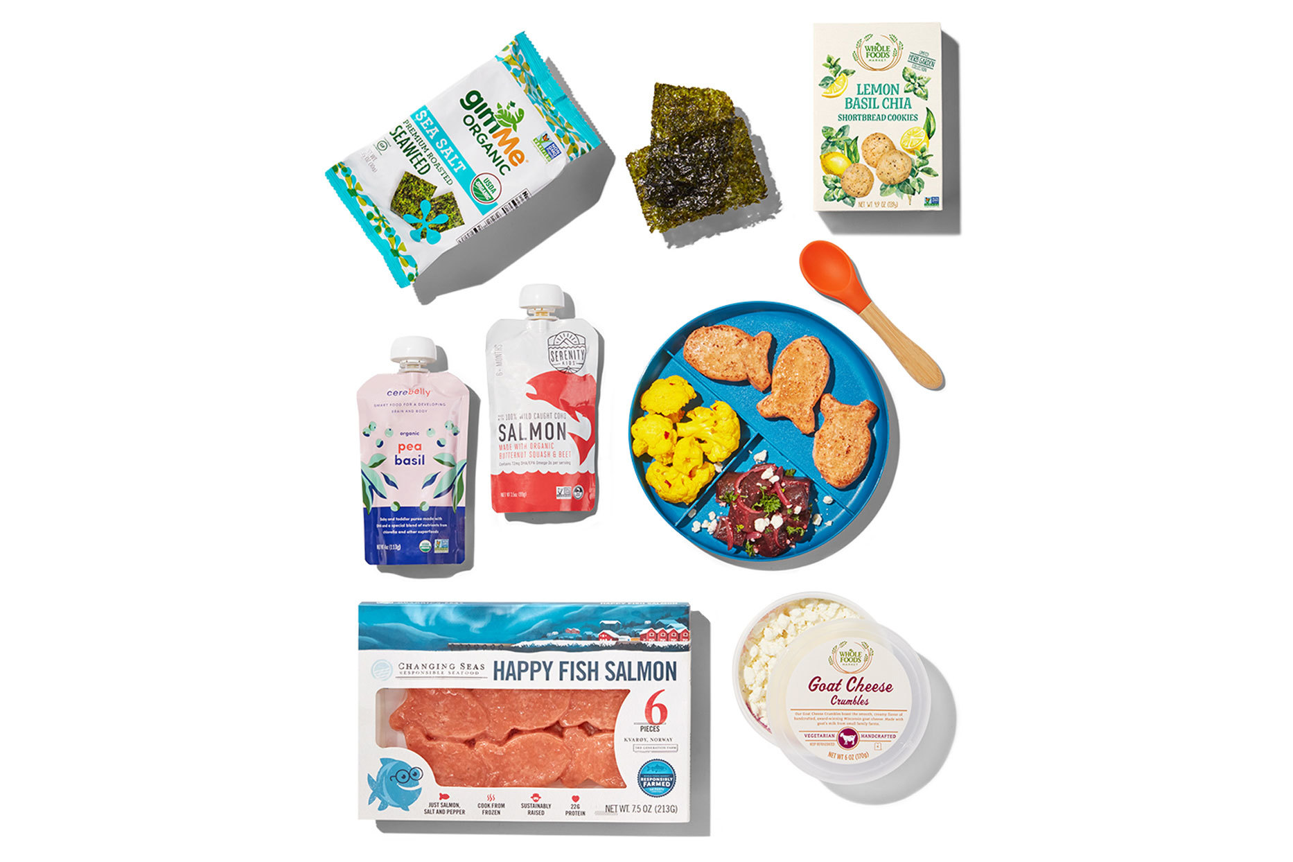 Various healthy kids food products