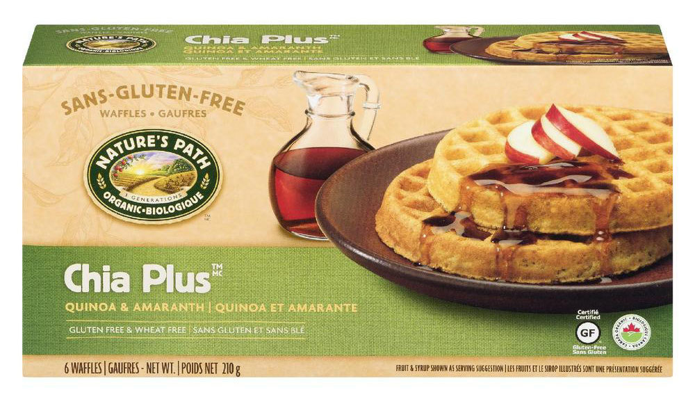 Nature's Path brand Chia Plus Frozen Waffles