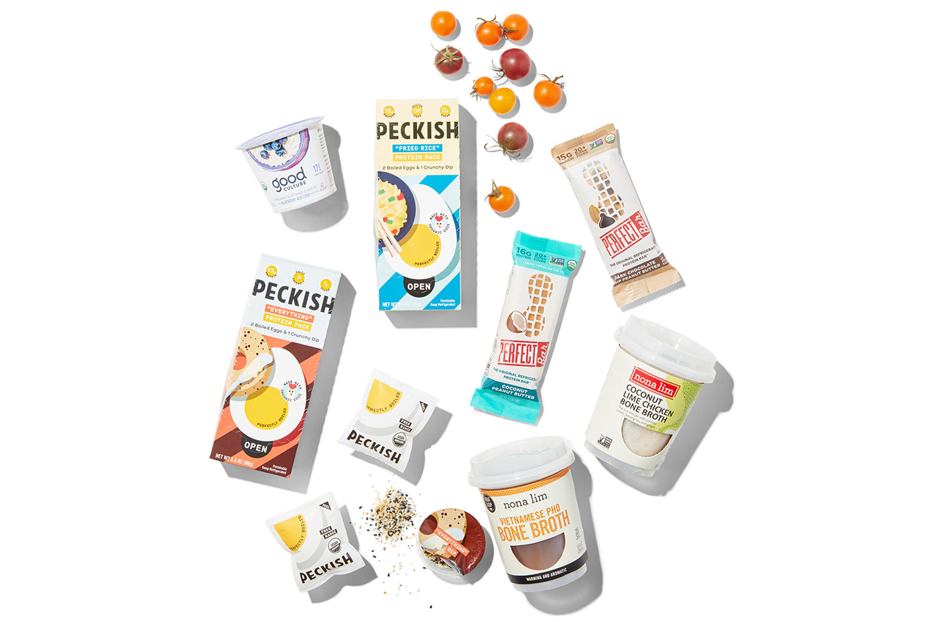 Various refrigerated snack products