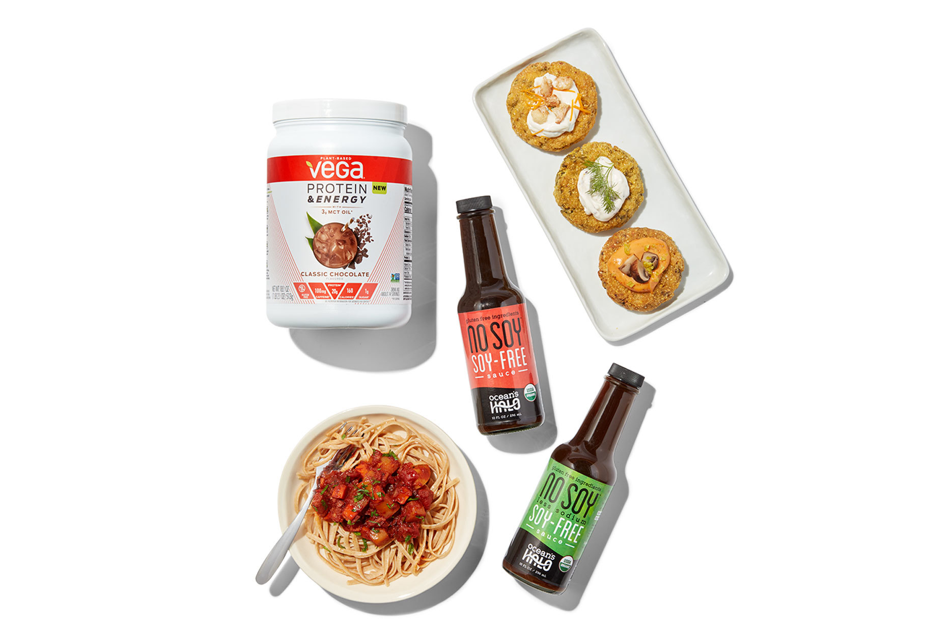 Various soy-free plant protein products
