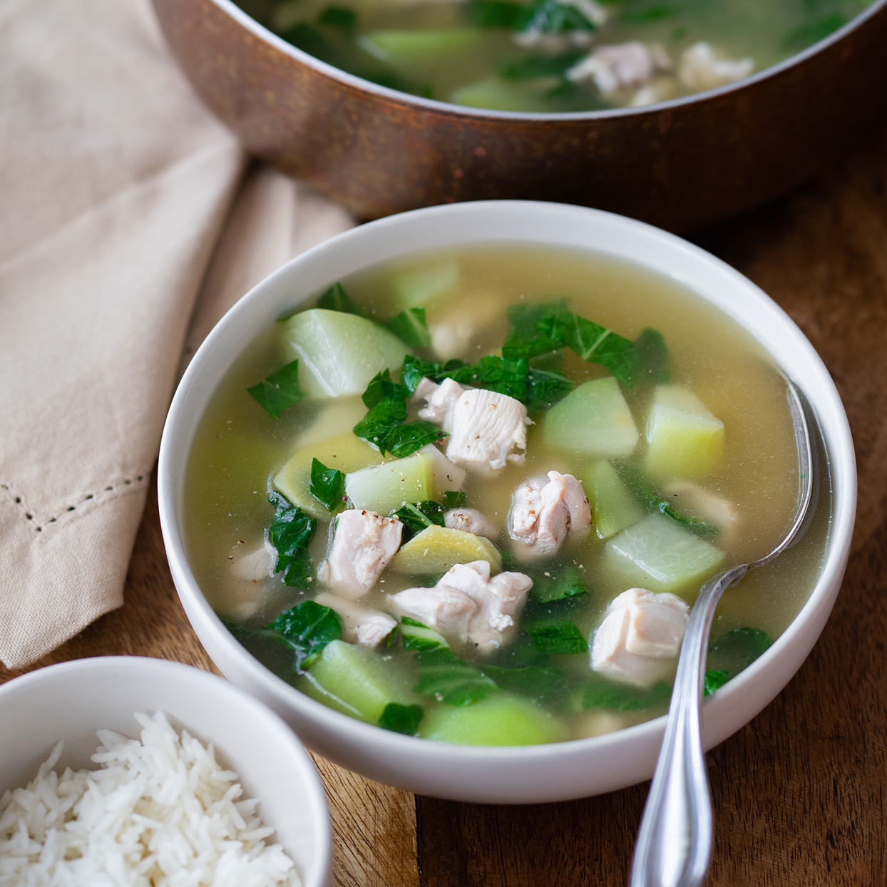 A Bowl of This Filipino Chicken-Garlic Soup Is Like a Hug from My Grandma