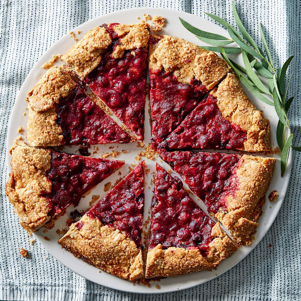 Cranberry Galette with Sesame Fragipane
