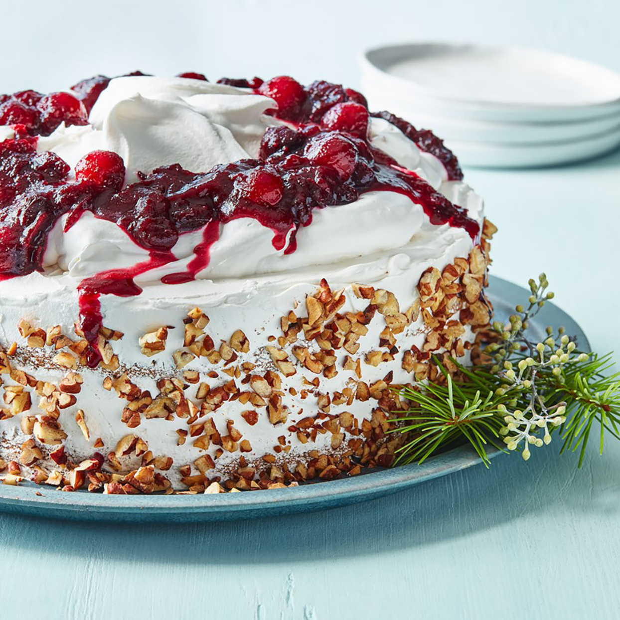 Apple Spice Cake with Cranberry-Mandarin Compote