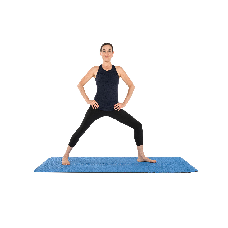 easy warrior yoga pose