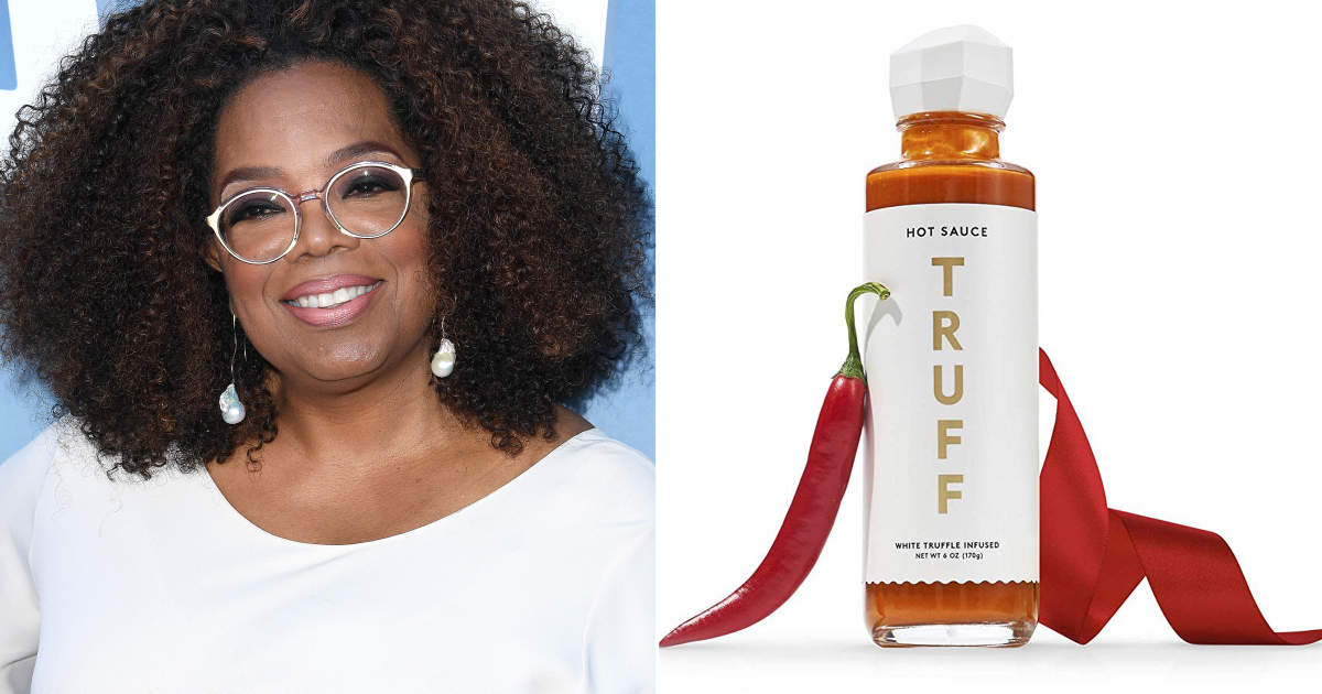 """LOS ANGELES, CALIFORNIA - AUGUST 06: Oprah Winfrey arrives at the Premiere Of OWN's """"David Makes Man"""" at NeueHouse Hollywood on August 06, 2019 in Los Angeles, California. (Photo by Steve Granitz/WireImage) truffle hot sauce Truff Credit: Amazon"""