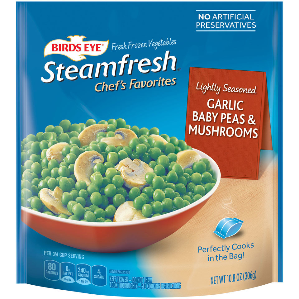 Birds Eye Frozen Peas and Mushrooms