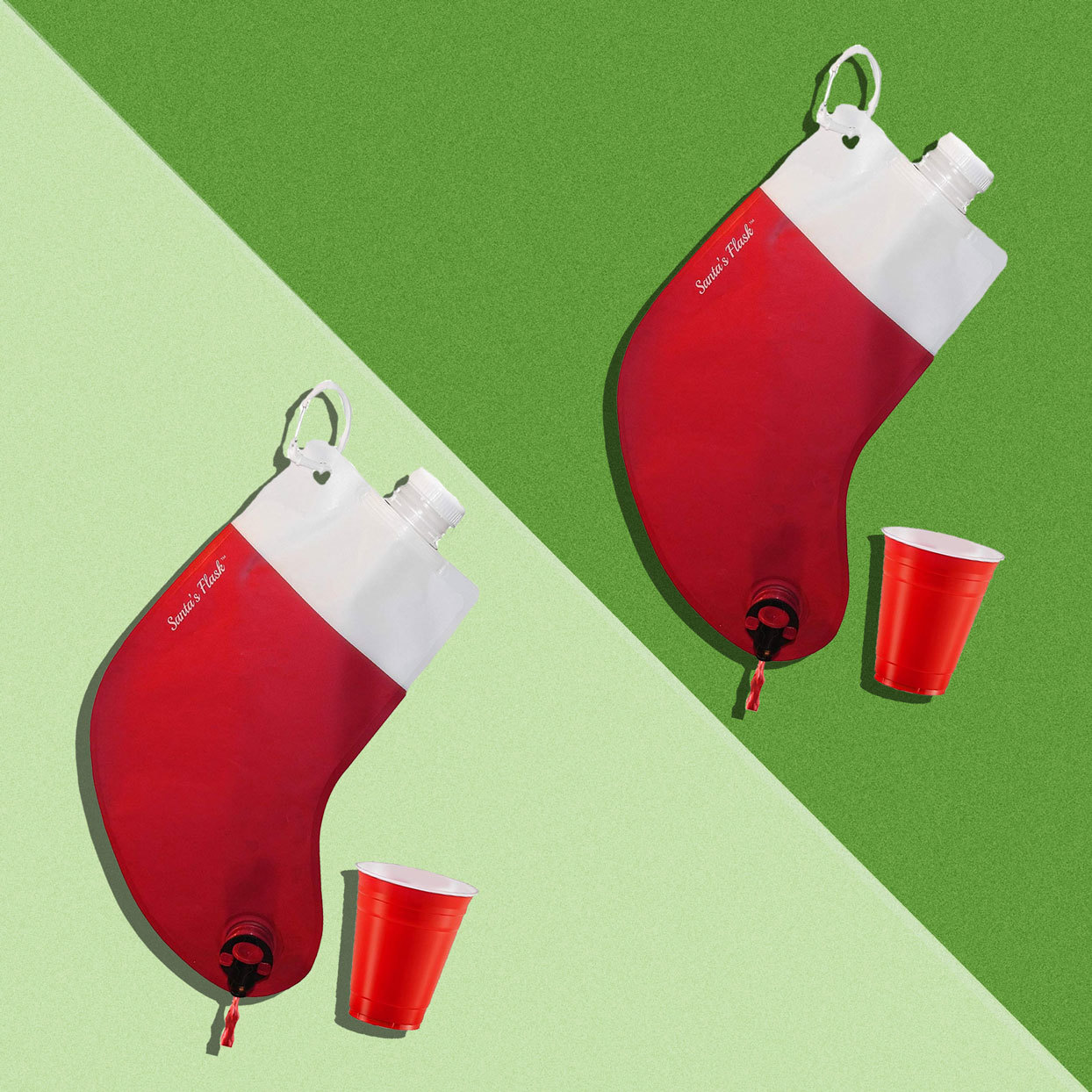These Flask Stockings Hold up to Three Bottles of Wine