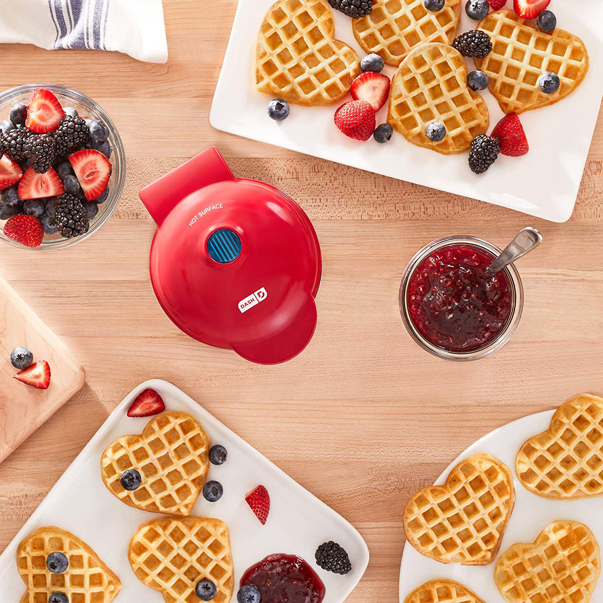This Heart-Shaped Waffle Maker Is Perfect for Valentine's Day—and It's Only $15