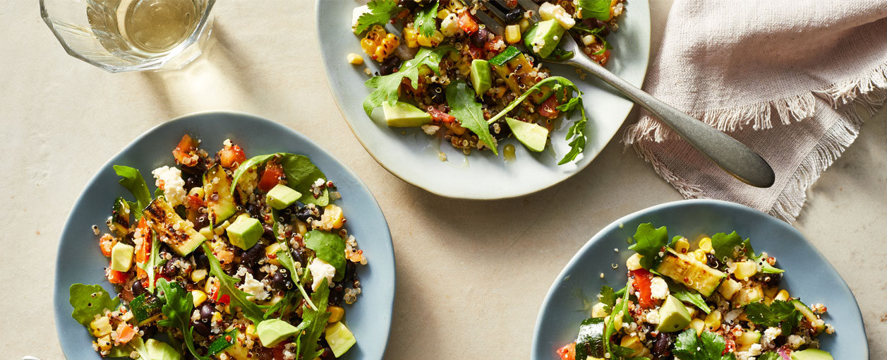 Mexican Quinoa Salad on plates