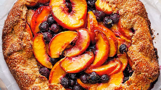 Celebrations at home - peach blueberry gallete image