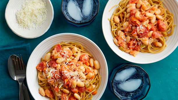 healthy bowls of pasta