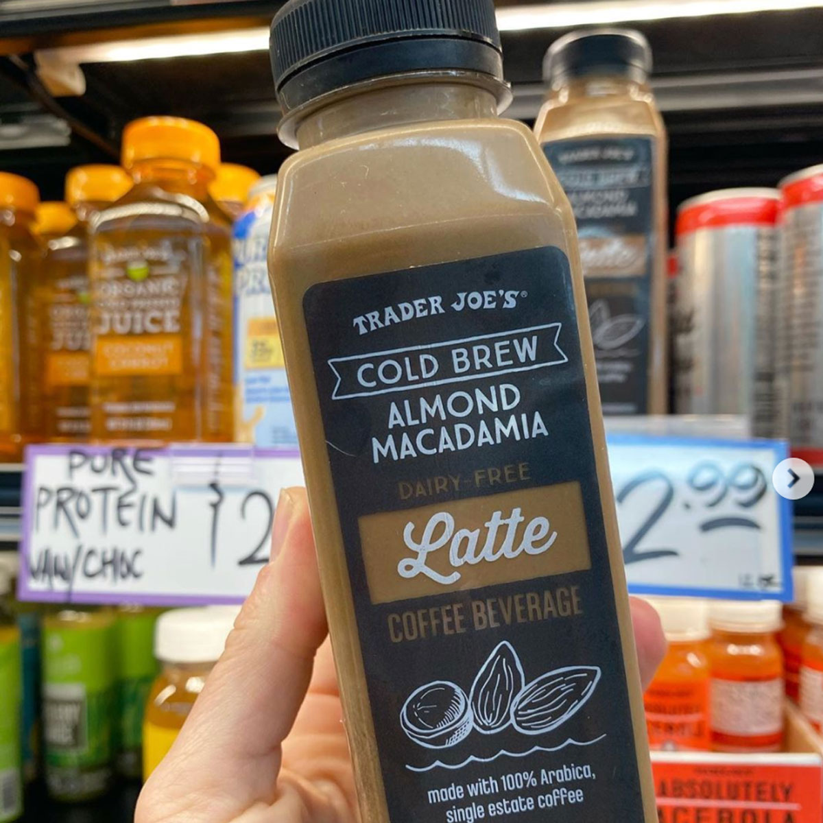 Trader Joe's Dairy-Free Cold Brew Latte Has More Protein Than an Egg