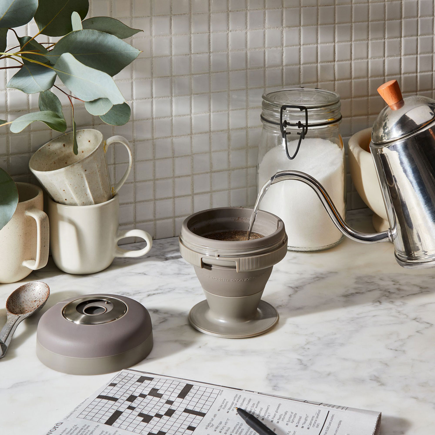 This Collapsible Coffee Press Will Help You Save Cabinet Space