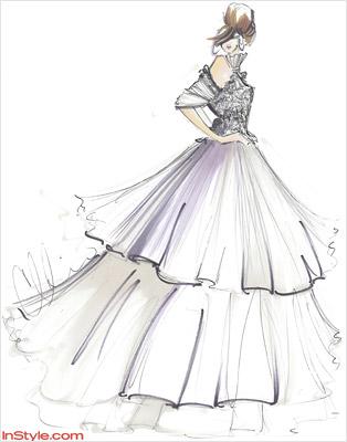 Twilight Project Runway Winner Christian Siriano Sketches Bella S Wedding Gown Ew Com