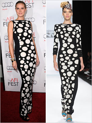 Heidi Klum Wore Mondo Guerra S Polka Dot Dress Ew Com