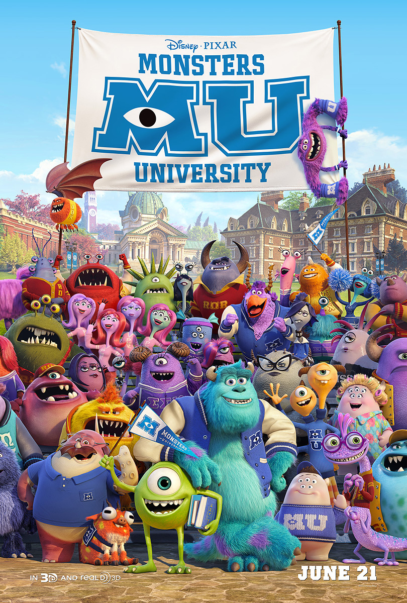 Pixar S Monsters University Mike Sully And Randall In New Poster Ew Com