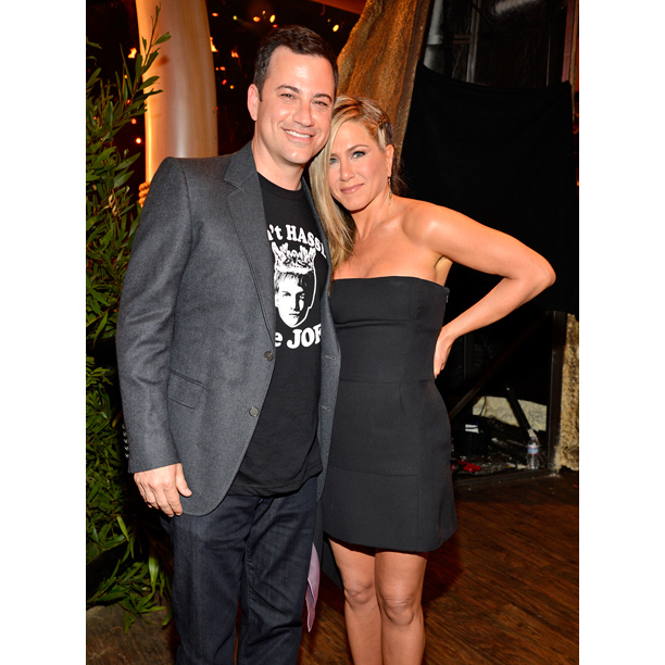 Spike S Guys Choice Awards Jimmy Kimmel Recovers From Jennifer Aniston Roast Video Ew Com He has daughter katie and a son kevin from a previous relationship. spike s guys choice awards jimmy
