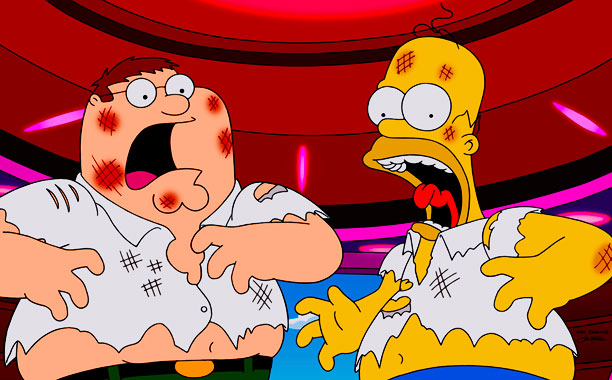 Guy Die Simpsons Family Family Guy