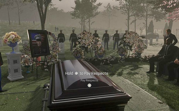 Press Square To Feel The Problems With Call Of Duty S Funeral Scene Ew Com