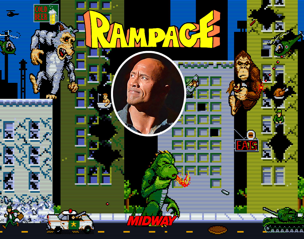 Dwayne Johnson Turning Rampage Videogame Into A Movie Where Dwayne