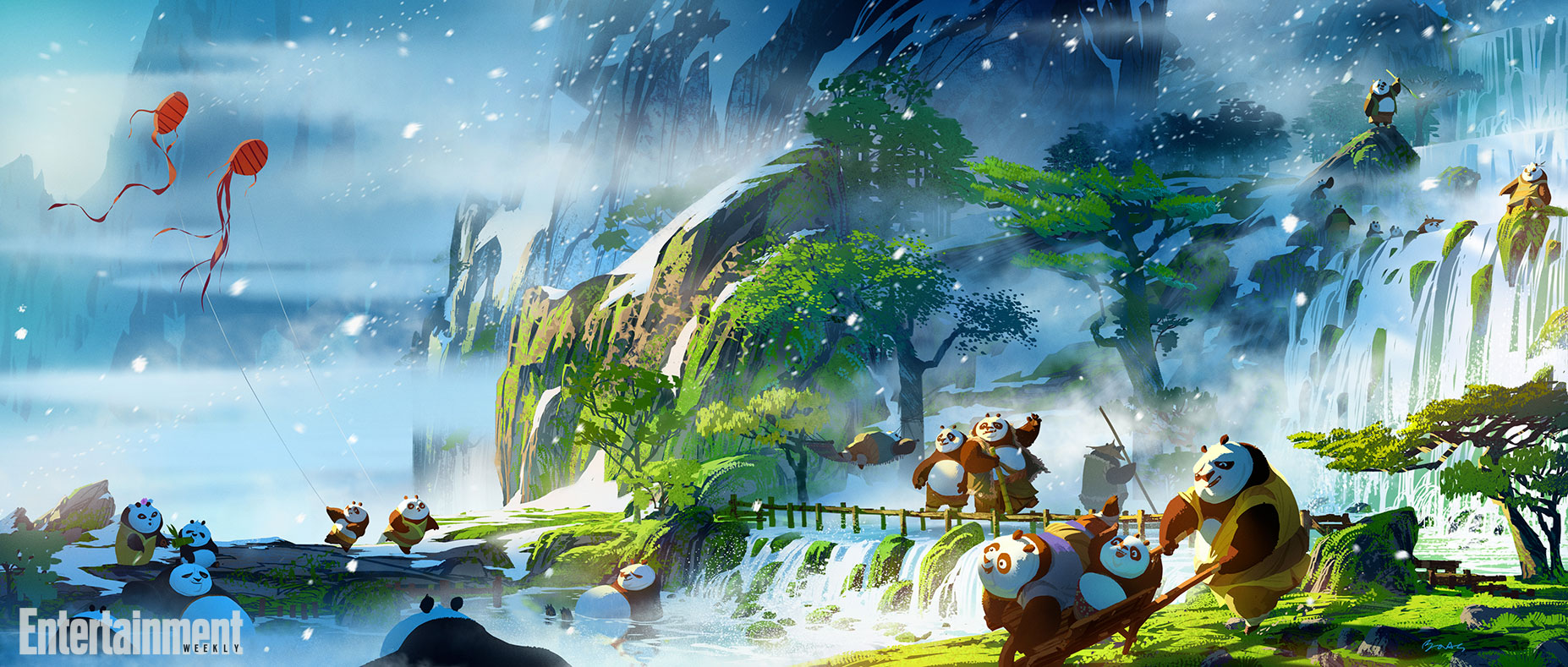 Kung Fu Panda 3 Exclusive See Concept Art And Cinemagraphs Of Panda Village Ew Com