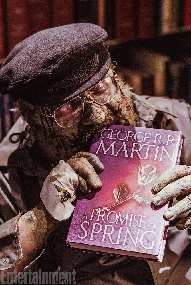 George R R Martin To Play A Zombie Signing New Thrones Book On Z Nation Ew Com
