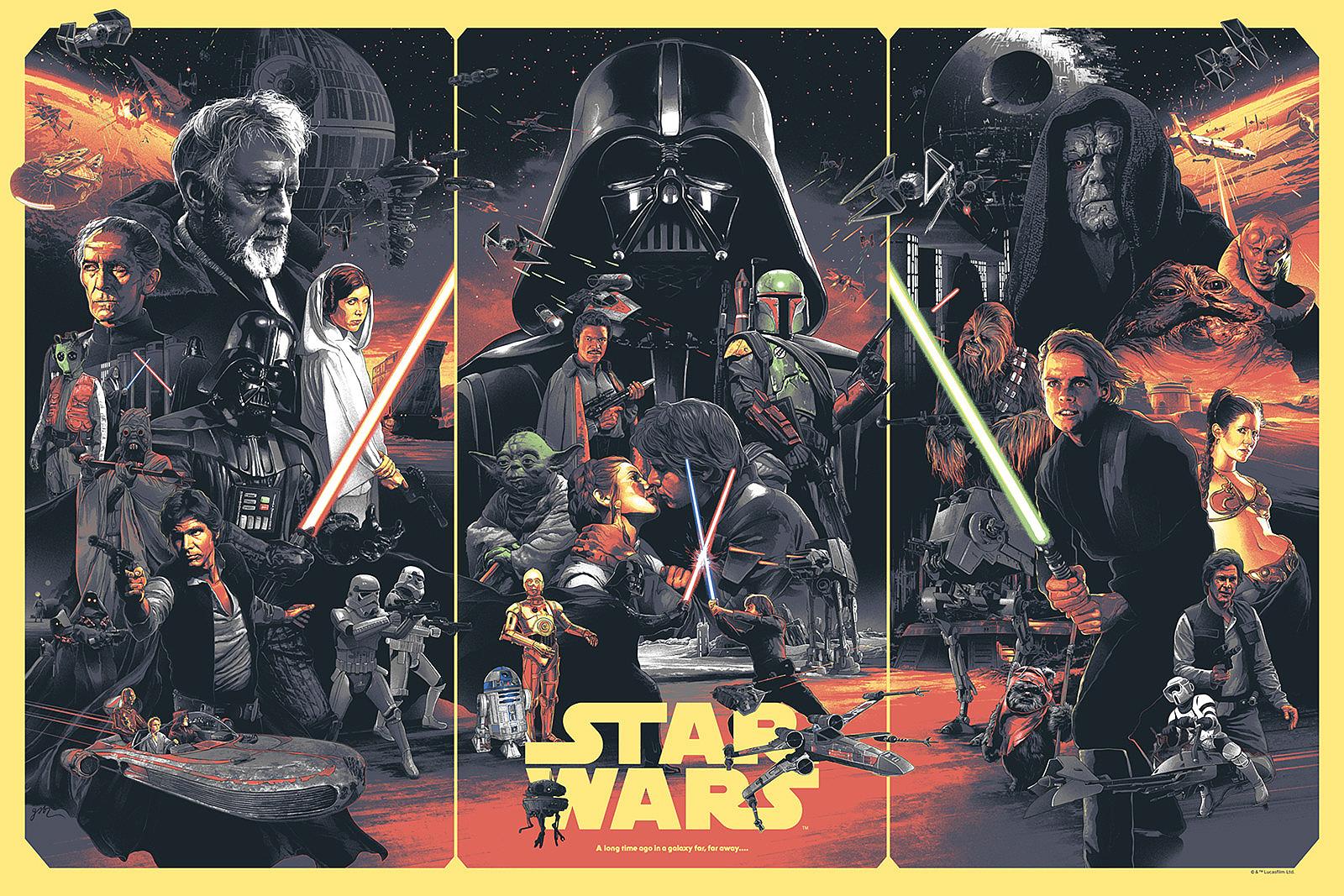 Star Wars Original Trilogy Gabz Poster Ew Com