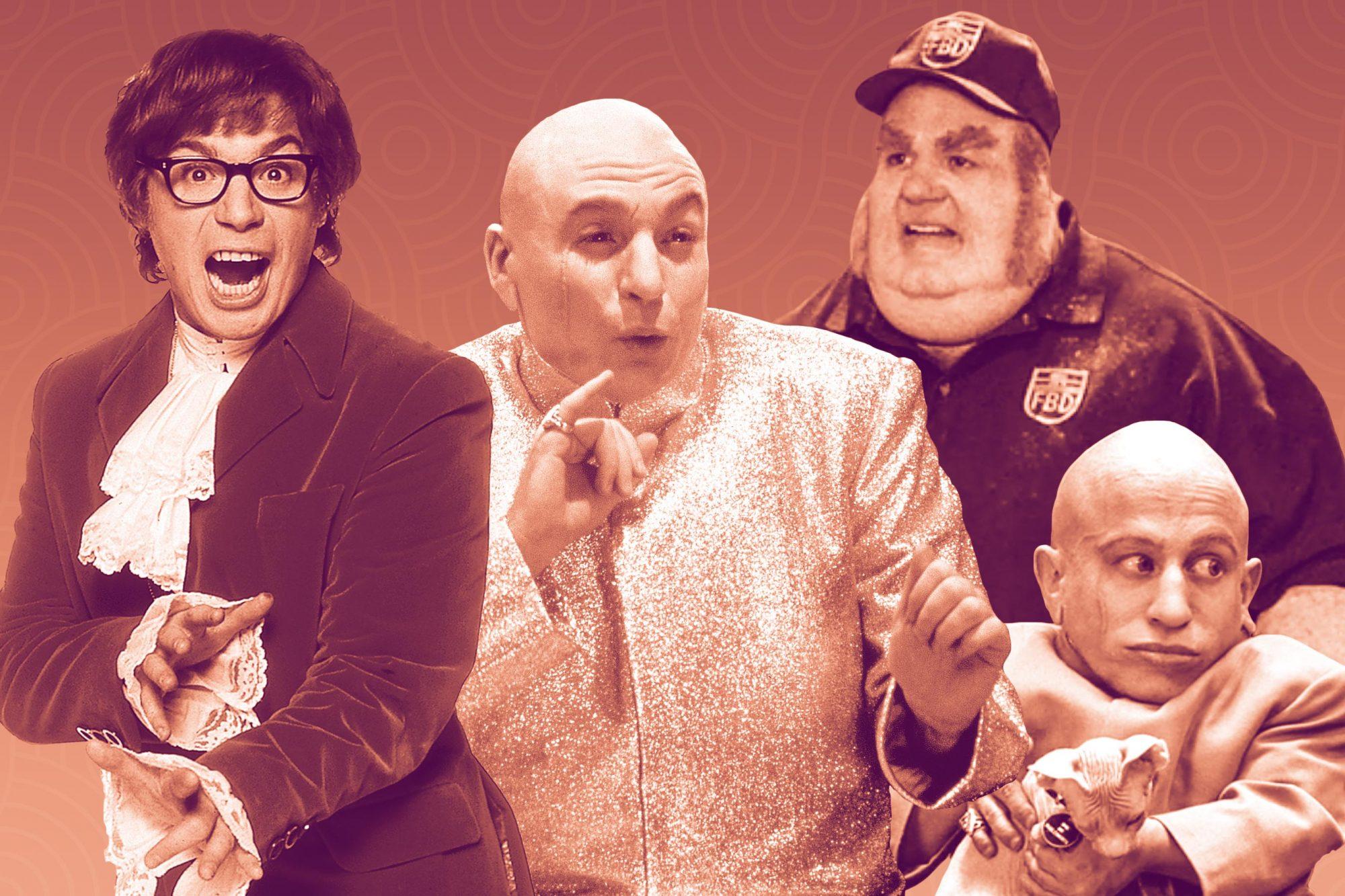 Fat Boy Halloween 2020 Michael Myers Mike Myers on Austin Powers' Fat Bastard, Mini Me, Dr. Evil   EW.com