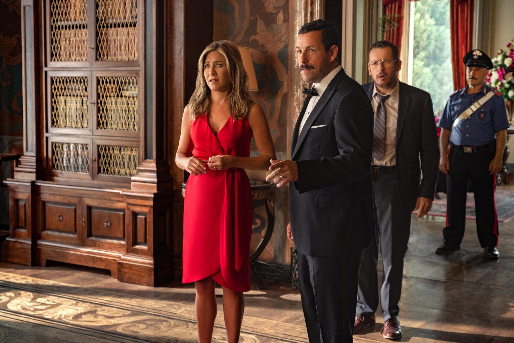 Murder Mystery review: Netflix film stars Jennifer Aniston, Adam Sandler |  EW.com