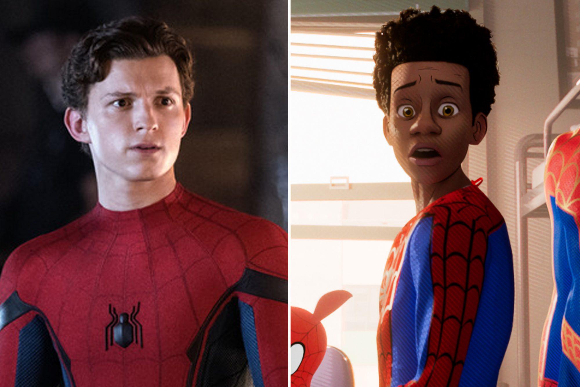 Tom Holland S Cut Spider Man Into The Spider Verse Cameo Explained Ew Com