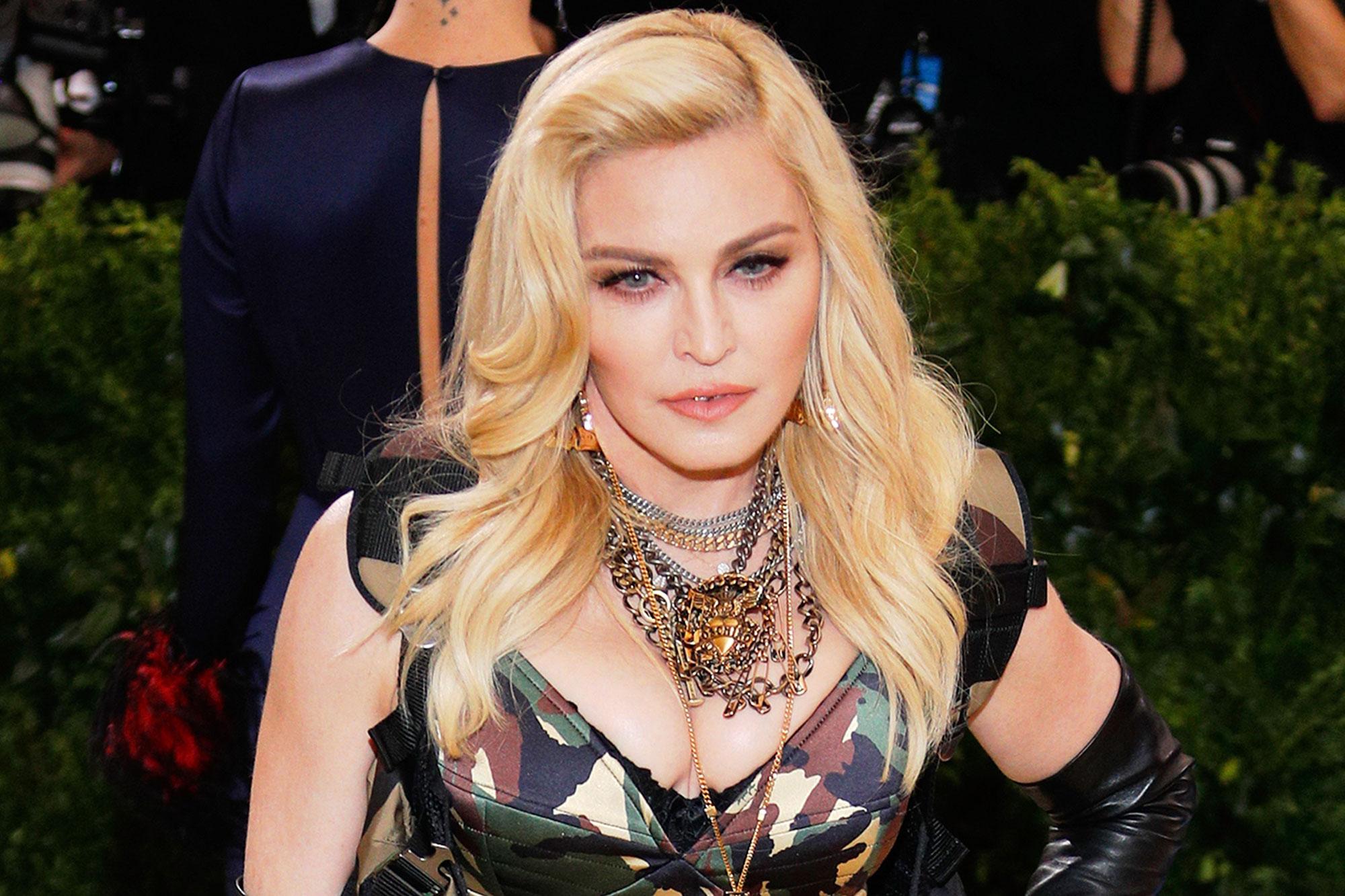 Madonna Creates A Fishy Vogue Parody In Quarantine Ew Com