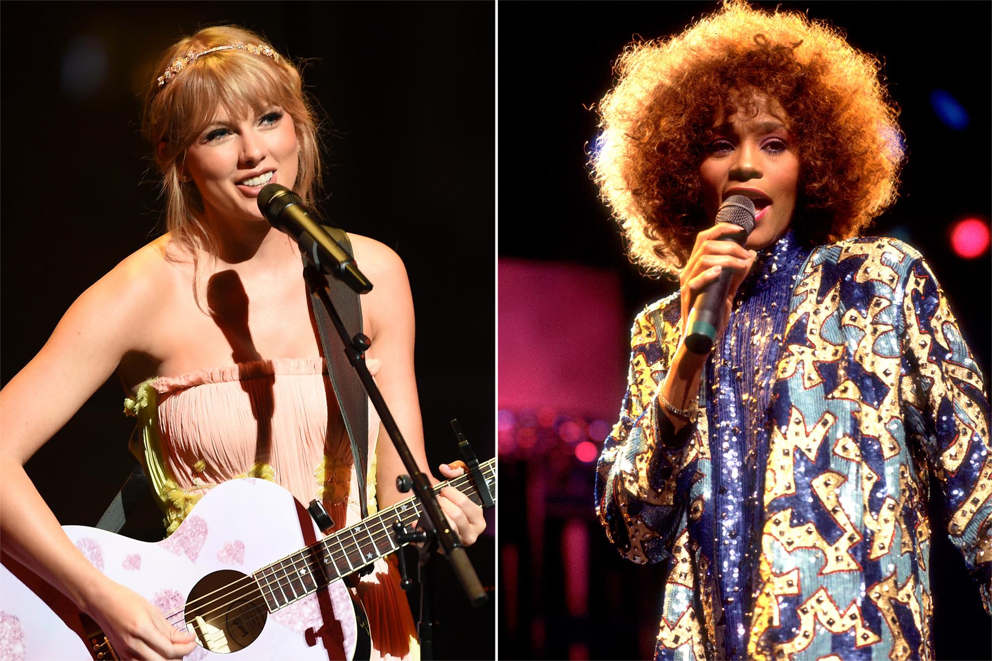 Taylor Swift Breaks Whitney Houston S 33 Year Old Billboard Record Ew Com